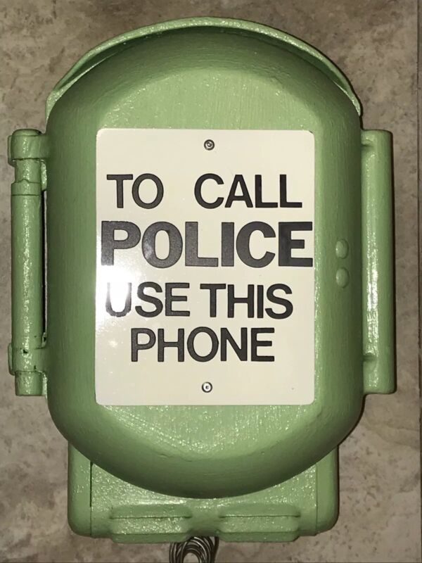 custom Vintage old New York Police Call Box Phone NYPD Telephone