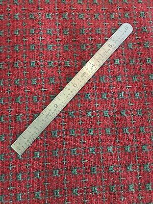 Vintage Sears Machinist Metal Ruler Stainless Steel 9- 4030 6 Scale Nice