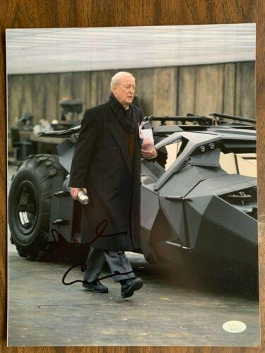 Dark Knight Michael Caine Autographed Signed 11x14 Photo JSA COA #4