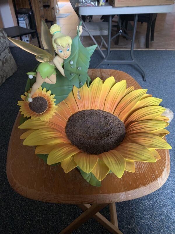 Rare Vintage Disney Fairies Tinkerbell Sunflower Figurine