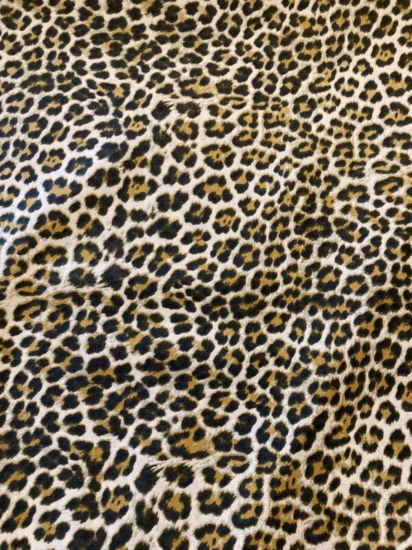Cheetah Print Brown 100% Cotton Fabric by the Half Yard