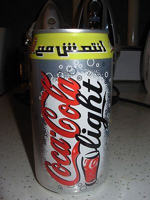 Collectible Original 1999 Coca Cola light can-Join the Beat-slogan