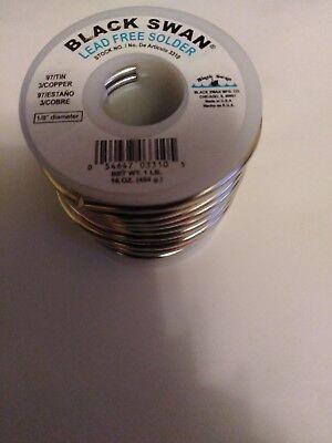 Black Swan Lead-free Solder 1 Lb. 97 Tin 3 Copper