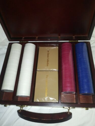 Poker Chips And Two Decks Of Cards In Carrying Case