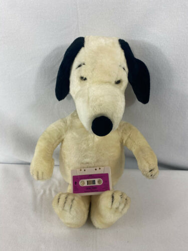"Vintage World Of Wonder Talking Snoopy 23"" 1986 Please read"