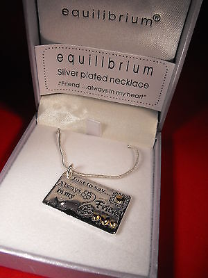 BEST FRIEND SILVER PLATED NECKLACE PENDANT PRESENT gift for my friend