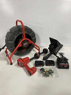 Ridgid Seesnake Mini Color 125ft Count Plus Locator Monitor Batteries Charger