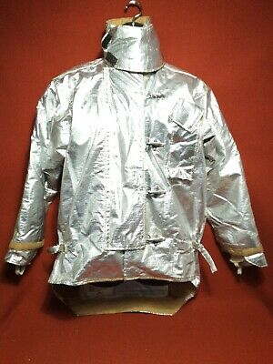 Morning Pride Aluminized Large Fire Fighting Jacket Coat Size 4635l  -a