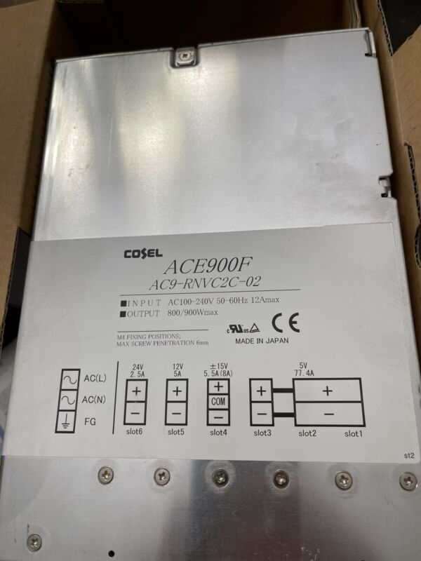 COSEL ACE900F 900W Power Supply Ace Series AC9-RNVC2C-02