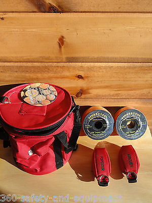 Arborist Tree Workers Throw Line Kit Rope Bag 2-15oz Bags 2 Rolls Of Thorw Line