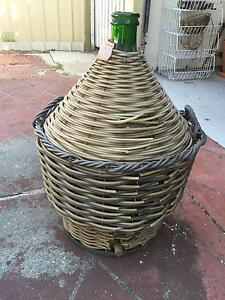 Vintage Large Glass Bottle Demijohn Wicker Wine Brewing Koondoola Wanneroo Area Preview