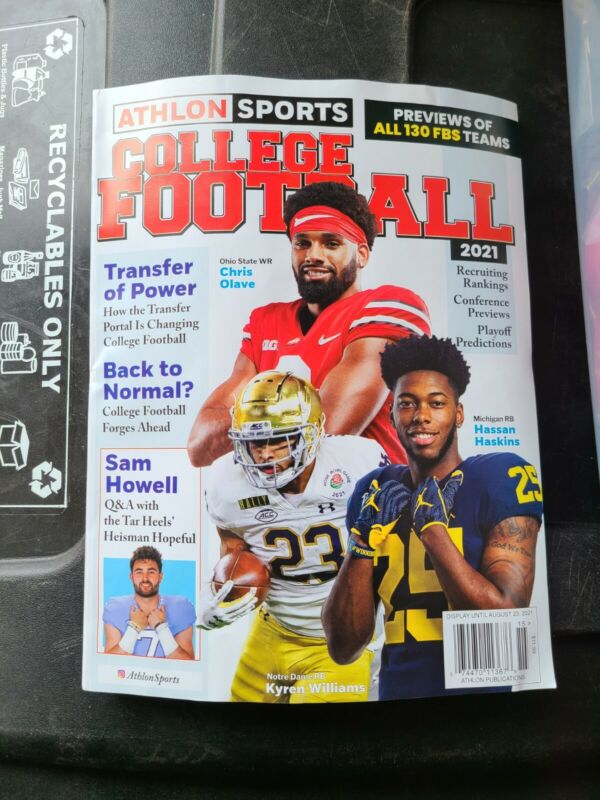 Athlon college football Ohio State Michigan Notre Dame    on the cover 2021