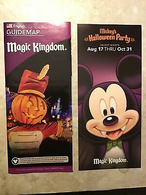 Disney World Magic Kingdom Fall 2018 Map & Halloween Promo - Promo Disney Halloween