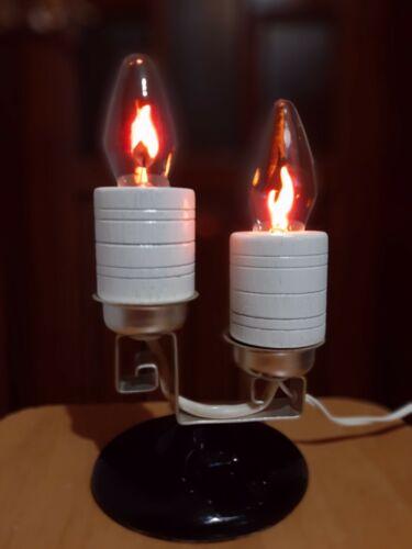 Vintage 1970s  Soviet Night LAMP Flickering Candles (Neon). USSR