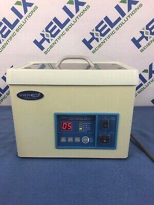 Vwr B2500a-dth Ultrasonic Cleaner 2.8l Digital Timer Heat Power De-gas 117v