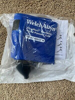 Welch Allyn Flexiport Reusable Blood Pressure Cuff Reuse-10-2bvw Inflation Syst