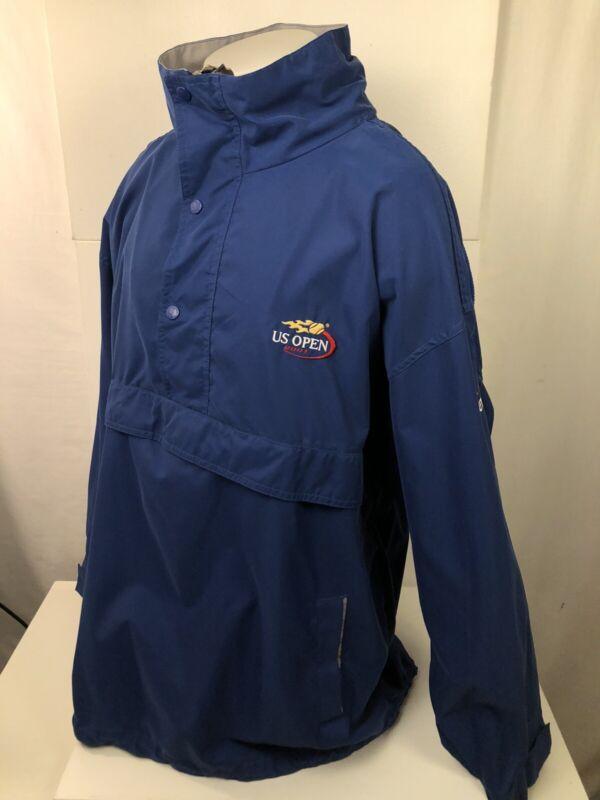 U.S. OPEN - Tennis Embroidered 2001 Spotlight Mens XL Hooded Blue Evian Jacket