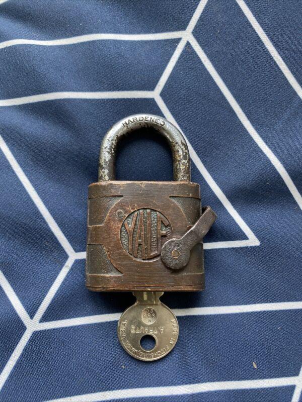 Douglas Aircraft vintage Yale padlock with key
