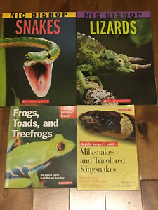 4 Books on Snakes, Lizards, Frogs & Toads