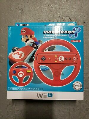 Wii U Mario Kart 8 Red Mario Steering Wheel