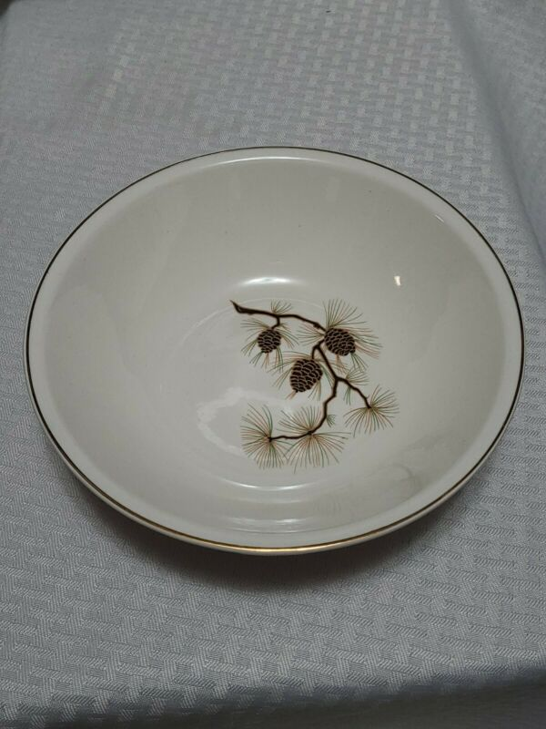 "Paden City Pottery Pine cone pattern Mid Century 8 3/4"" Serving Bowl USA"