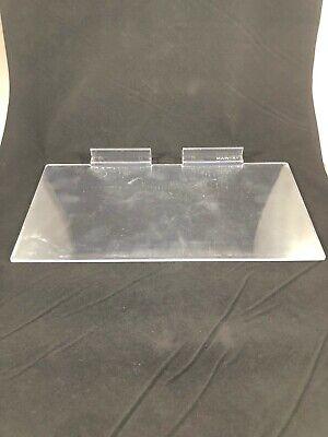 200 Piece Slat Wall Shelf Shoe Sunglasses 12 X 6 Flat Clear Acrylic
