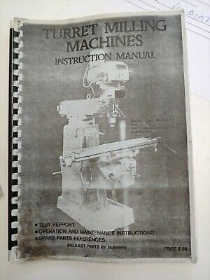 Lagun Ftv-3cnc Vertical Milling Machine Instruction Manual