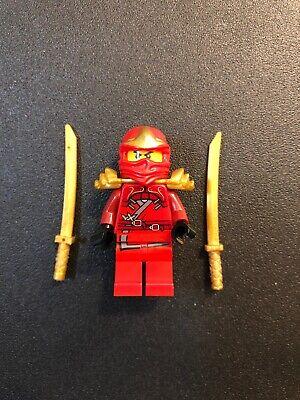 Kai ZX 9561 9441 9449 Red Ninja Armor Gold Swords Ninjago LEGO Minifigure