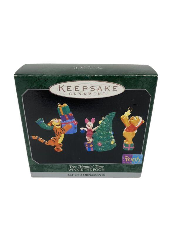 Hallmark Keepsake Christmas Ornament Winnie The Pooh Tree-Trimmin' Time Set Of 3