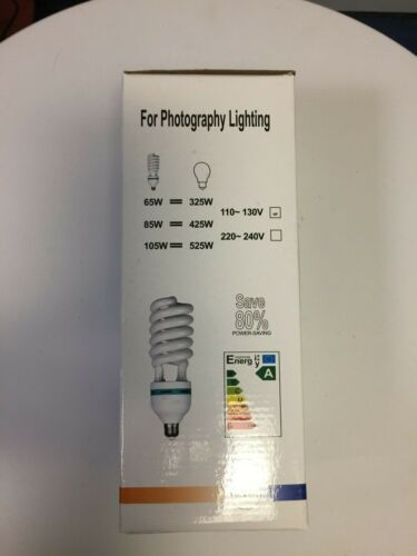KAEZI 65 Watt  5500k Bulb for Photography Lighting