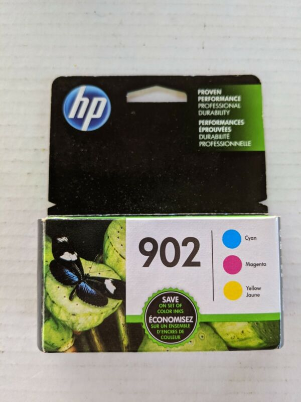 Genuine HP 902 COLOR 3 pack cyan, magenta, yellow exp 6/2022 brand new sealed