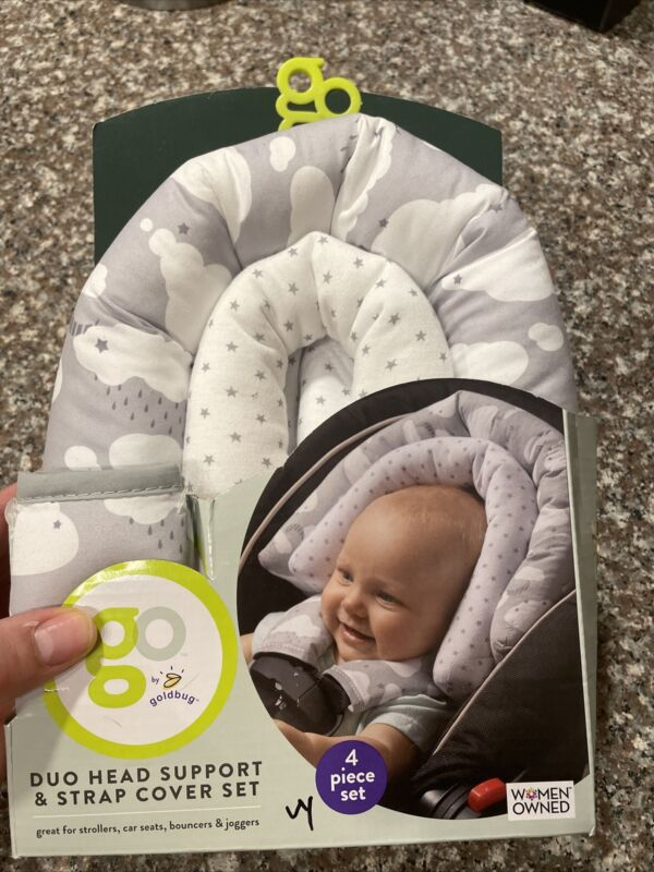 Go By Goldbug Duo Head Support And Strap Cover Set For Baby NIB!
