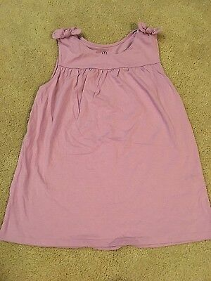 Lands End Girls Bow - Lands' End Girls EUC Medium 10-12 Purple cotton knit bow tank top So Soft !!!