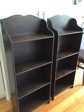 SOLID OAK BOOKCASE BOOKSTAND BOOKSHELVES - PAIR OF FREE STANDING Brighton Bayside Area Preview