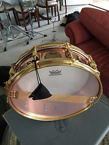 "Pearl  Marvin ""Smitty "" Smith  4"" copper shell snare drum / piccolo Noosa Heads Noosa Area Preview"
