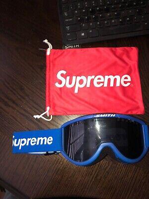 Supreme Smith Collaboration Cariboo OTG Ski Goggles Blue (Used For Decoration)