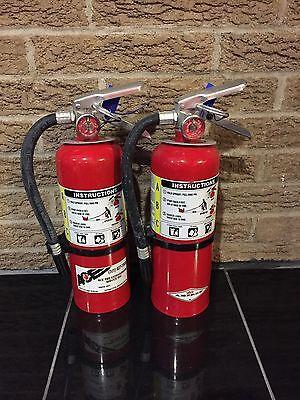 5lb Abc Fire Extinguisher Bracket Tag Nice Set Of 2