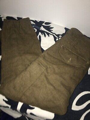 Vtg Army 1952 Battle Dress Wool Trousers 1949 Pattern SzG1 James Smith Co Pants
