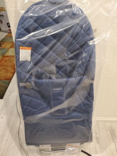 BabyBjorn 006015US Bliss Cotton Bouncer - Midnight Blue