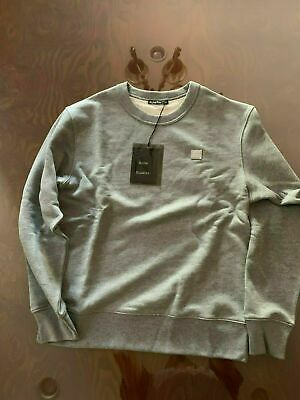 Acne Studios Fairview Face Sweatshirt Grey Cotton Size Medium
