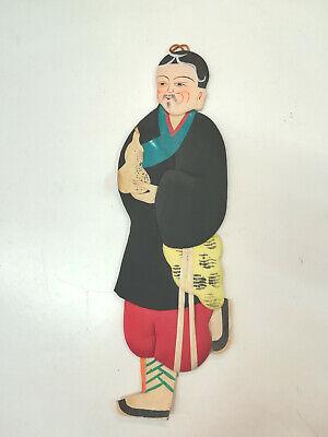 chinesische Papier Seiden Figur Pappfigur handgefertigt 1960 er junger Mann