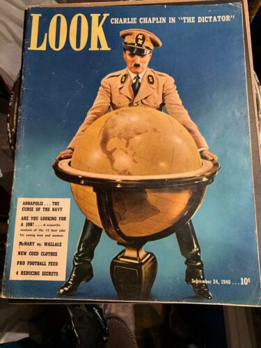 LOOK MAGAZINE - CHARLIE CHAPLIN SEPT. 1940