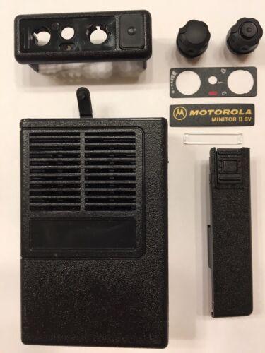 New OEM Motorola Minitor II (2) SV Housing Refurb Kit - Black
