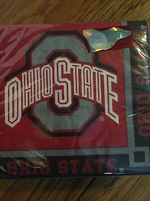 NEW Officially Licensed Ohio State 2 Ply Beverage Napkins (1 Package) 50 Count - Ohio State Beverage