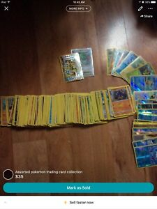 Assorted Pokemon trading card collection
