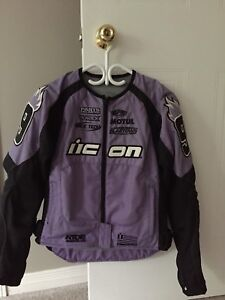 Ladies ICON Motorcycle Jacket size x-small