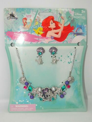 Disney The Little Mermaid Princess Ariel Jewelry Set Necklace & Earrings Ages 3+