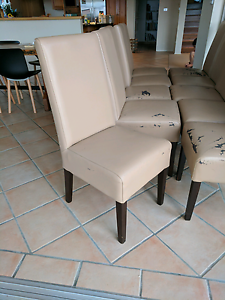 10 highback leather chairs - peeling, need reupholster Frenchs Forest Warringah Area Preview