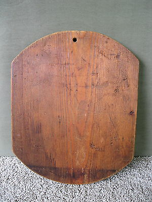 Vintage Cutting Board Oblong Primitive Old Pine Wood Dough Carving Bread
