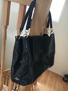 Beautiful black leather Coach purse!